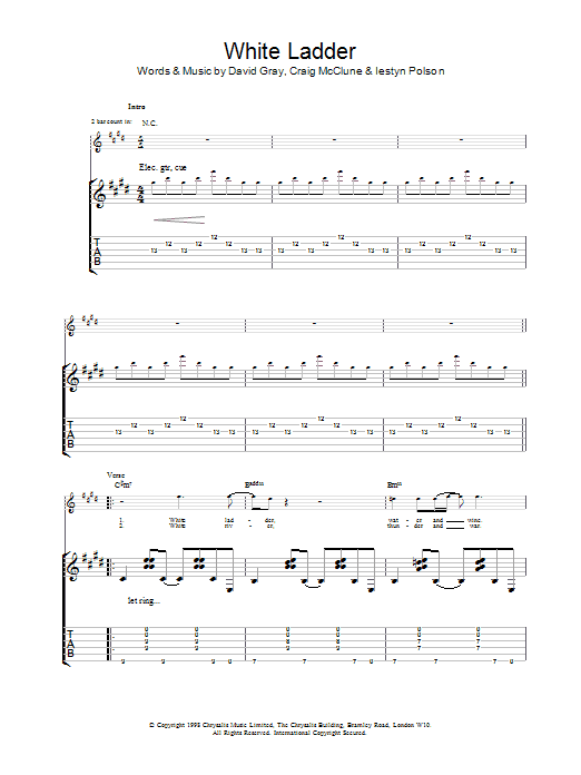 White Ladder Sheet Music