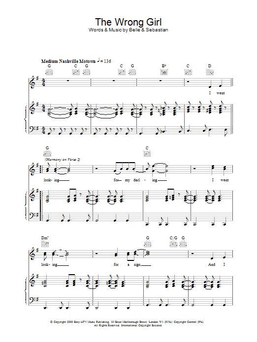 The Wrong Girl Sheet Music