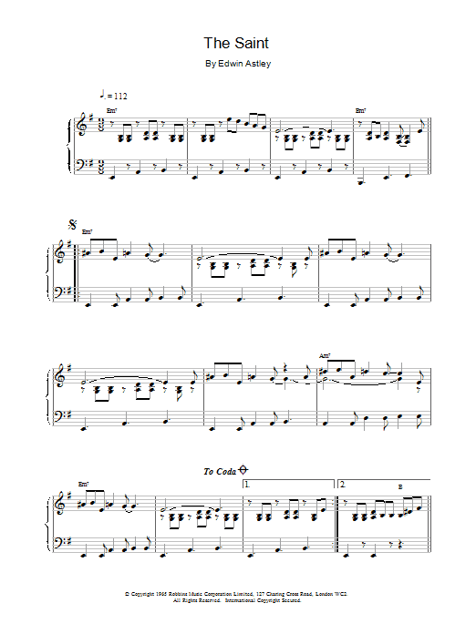 The Saint Sheet Music