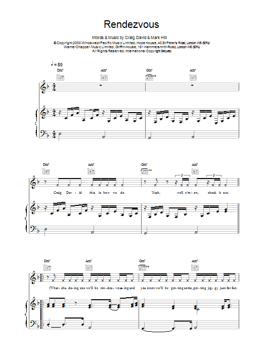 Rendezvous Sheet Music