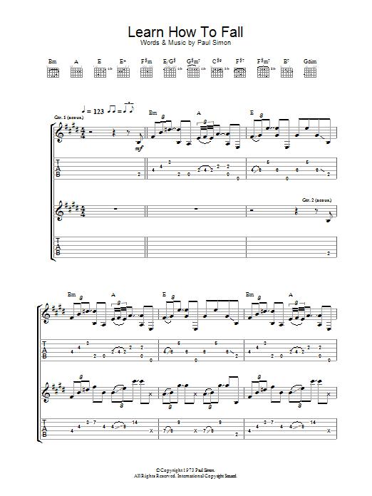 Learn How To Fall (Guitar Tab)