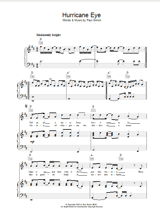 Hurricane Eye Sheet Music