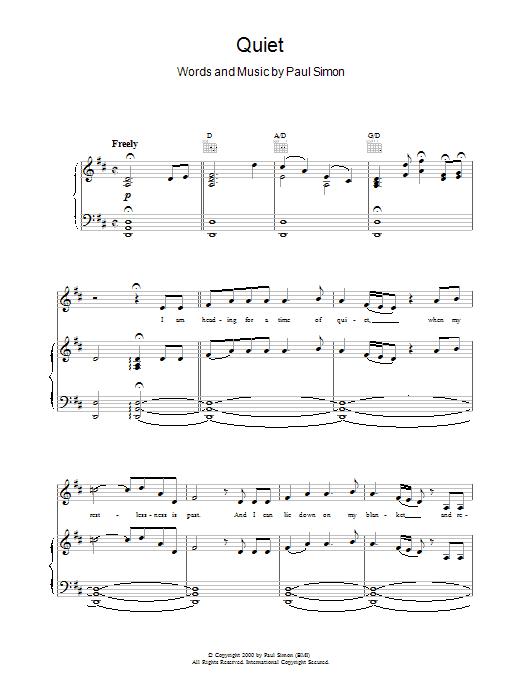 Quiet Sheet Music