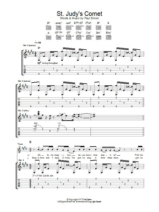 St. Judy's Comet (Guitar Tab)