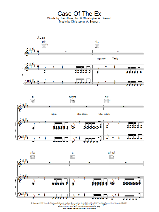 Case Of The Ex Sheet Music