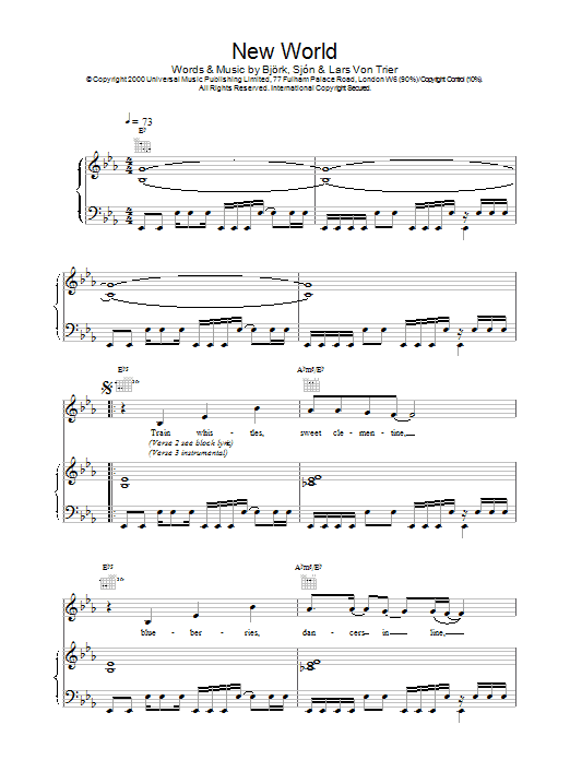 New World (from Dancer In The Dark) Sheet Music