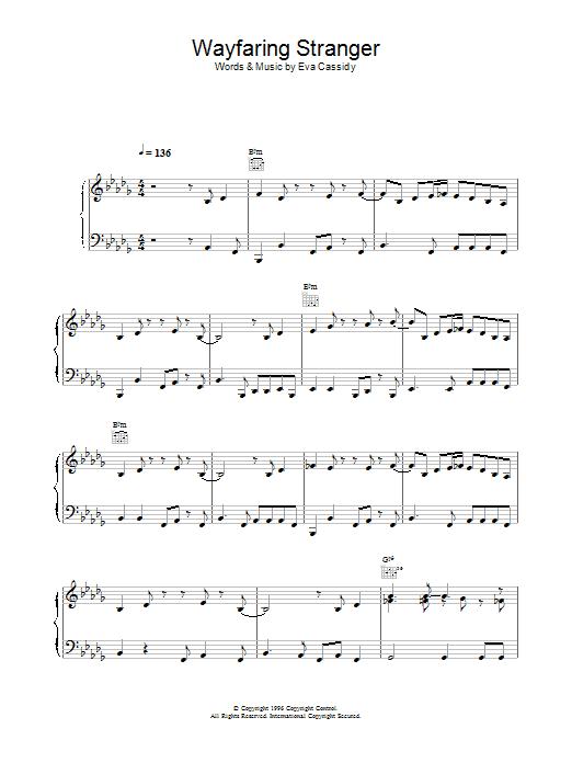 Wayfaring Stranger Sheet Music