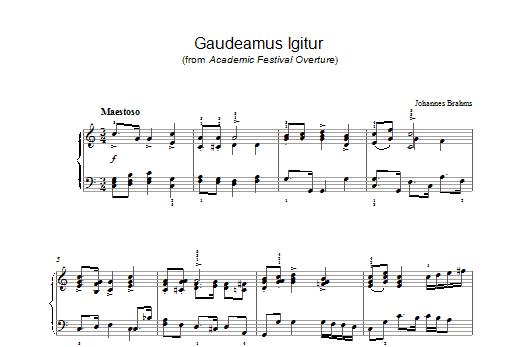Gaudeamus Igitur (from Academic Festival Overture) (Piano Solo)