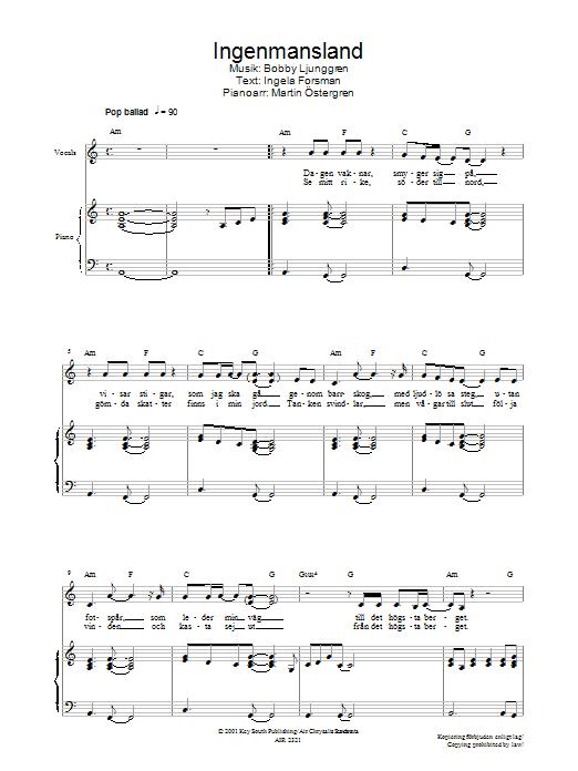 Ingenmansland Sheet Music