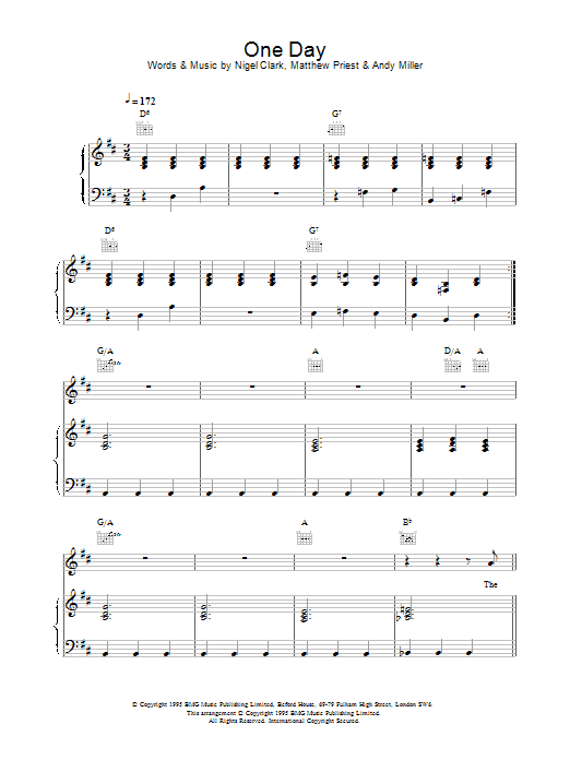 One Day Sheet Music