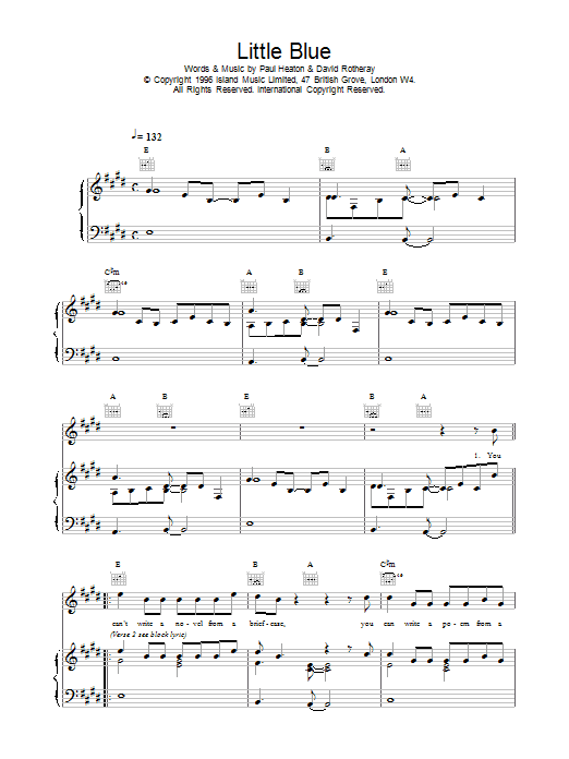 Little Blue Sheet Music