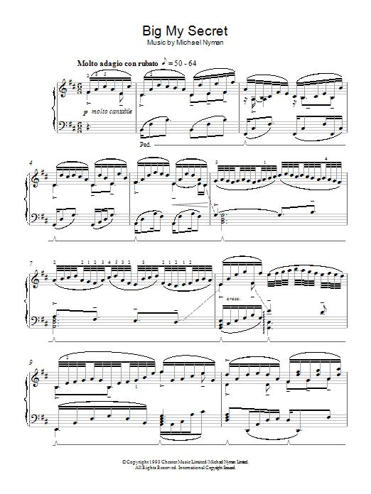 Sheet Music Digital Files To Print Licensed Michael Nyman