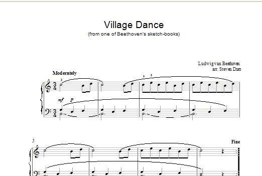 Village Dance Sheet Music