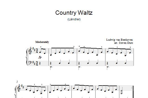 Country Waltz (Ländler ) Sheet Music
