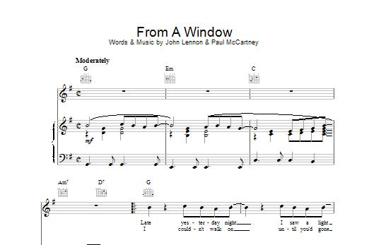 From A Window Sheet Music