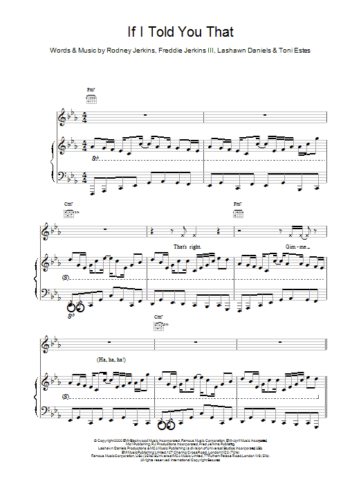 If I Told You That Sheet Music