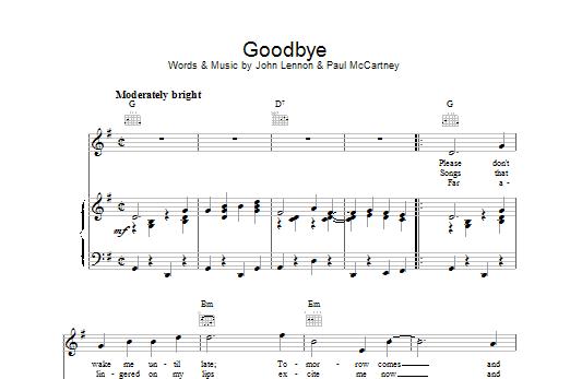 Goodbye Sheet Music