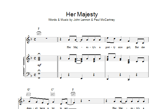 Her Majesty Sheet Music