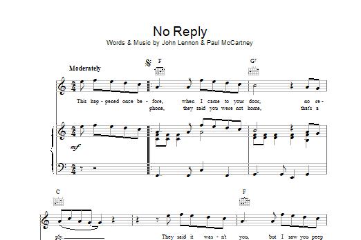 No Reply Sheet Music