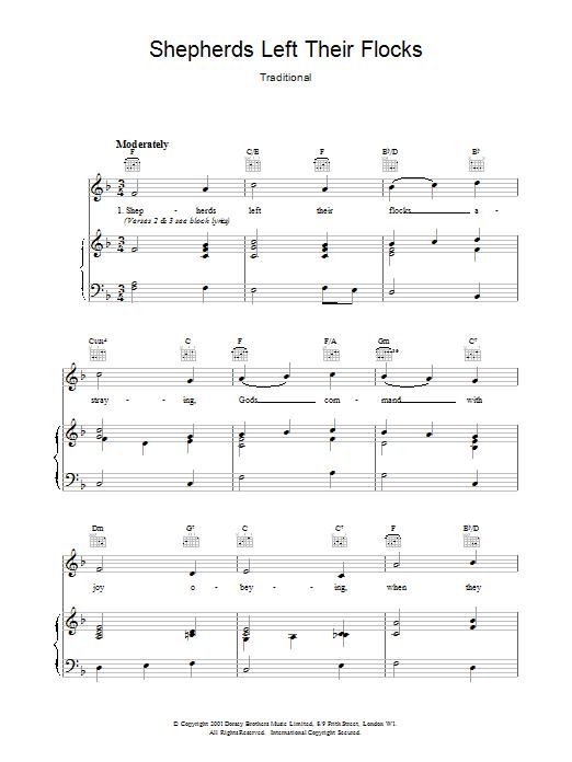 Shepherds Left Their Flocks Sheet Music
