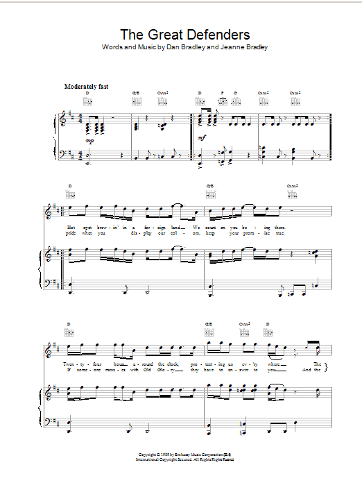 The Great Defenders Sheet Music