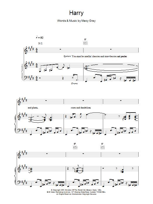 Harry Sheet Music