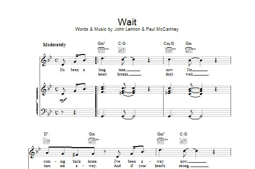 Wait Sheet Music