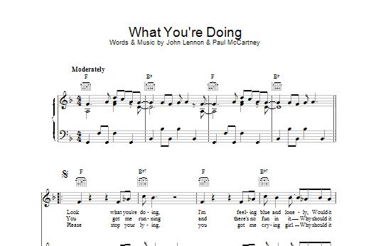 What You're Doing Sheet Music