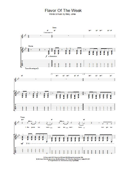 Flavor Of The Weak (Guitar Tab)