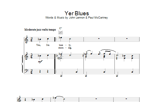 Yer Blues Sheet Music