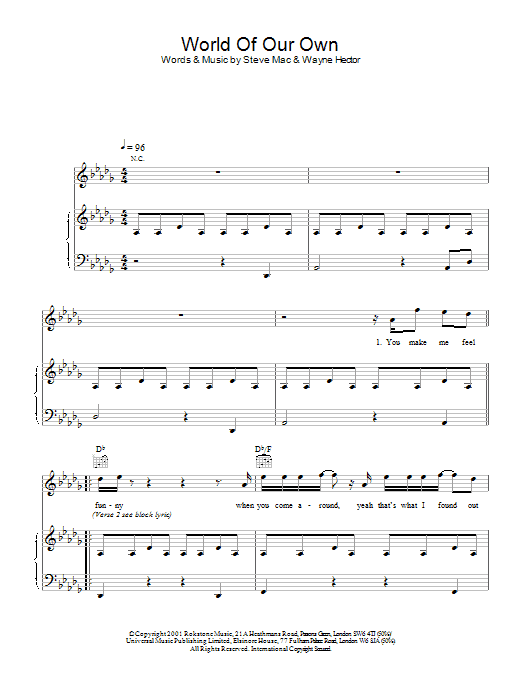 World Of Our Own Sheet Music