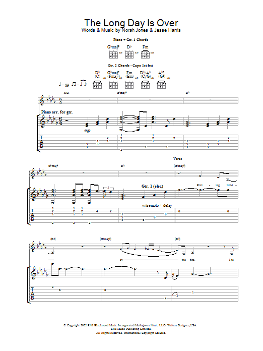 The Long Day Is Over Sheet Music