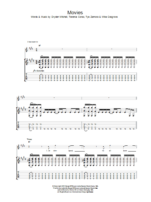 Movies (Guitar Tab)