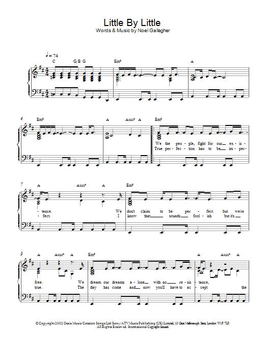 Little By Little (Piano Solo)