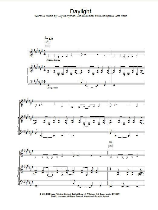 Daylight Sheet Music