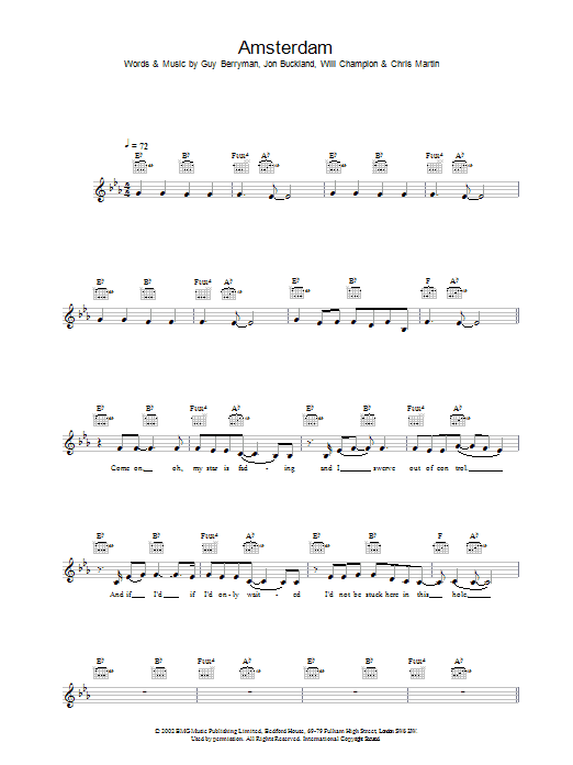 Amsterdam Sheet Music