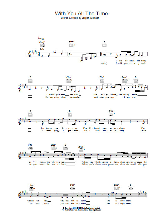 With You All The Time Sheet Music