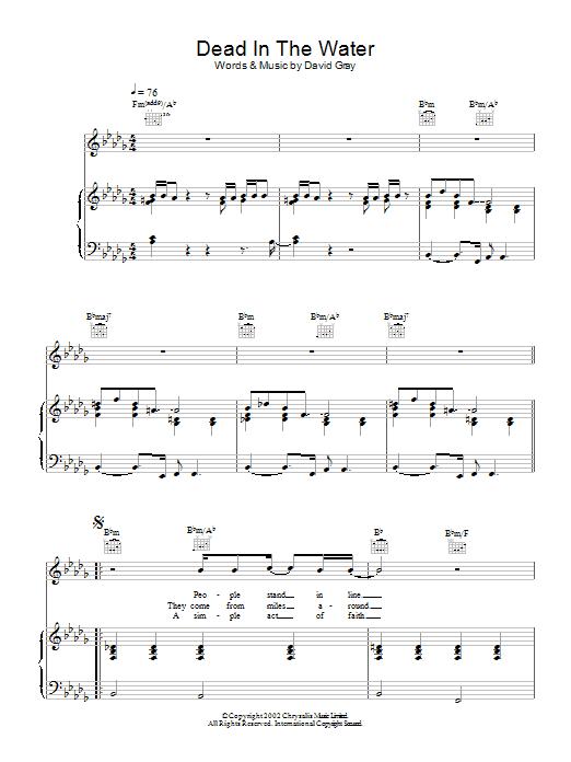 Dead In The Water Sheet Music