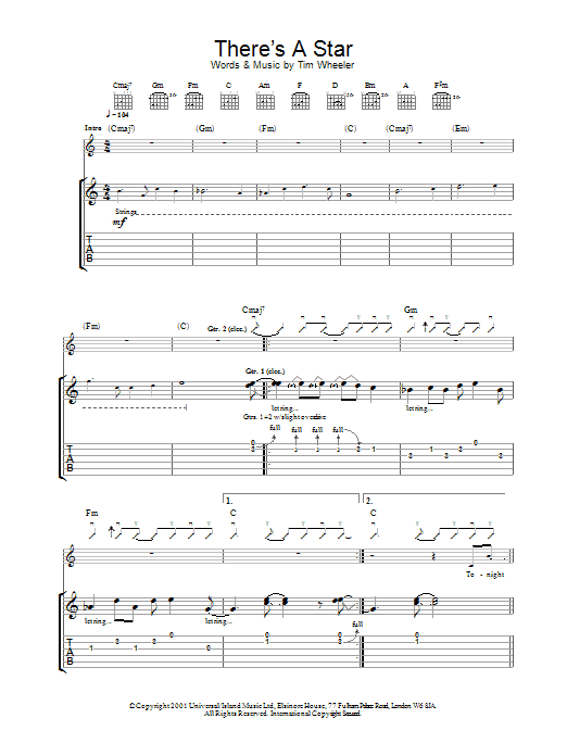 There's A Star Sheet Music