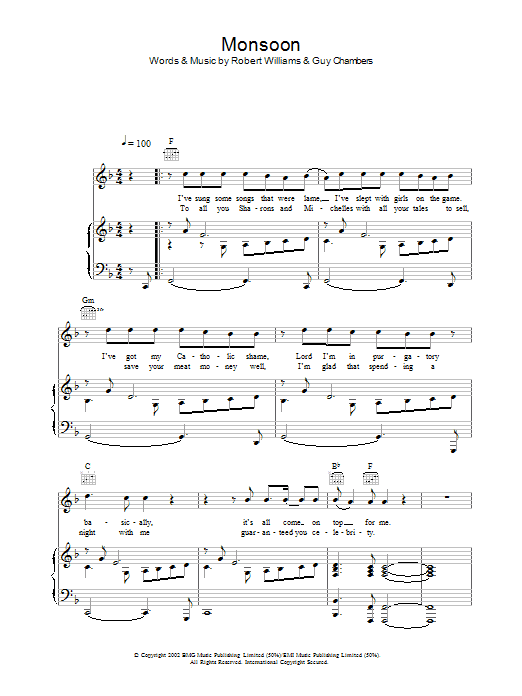 Monsoon Sheet Music