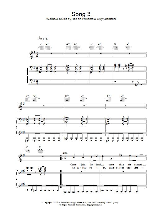 Song 3 Sheet Music