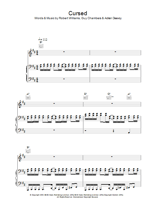 Cursed Sheet Music