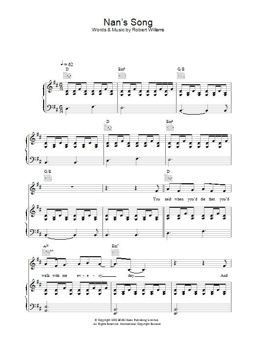 Nan's Song Sheet Music