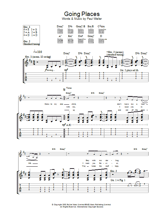Going Places Sheet Music