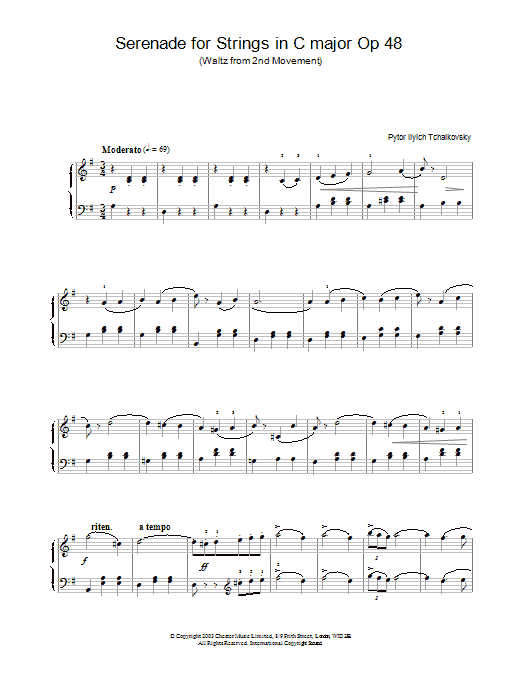 Serenade for Strings in C major Op.48 Sheet Music