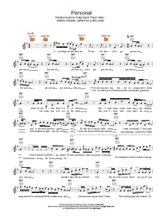Personal Sheet Music