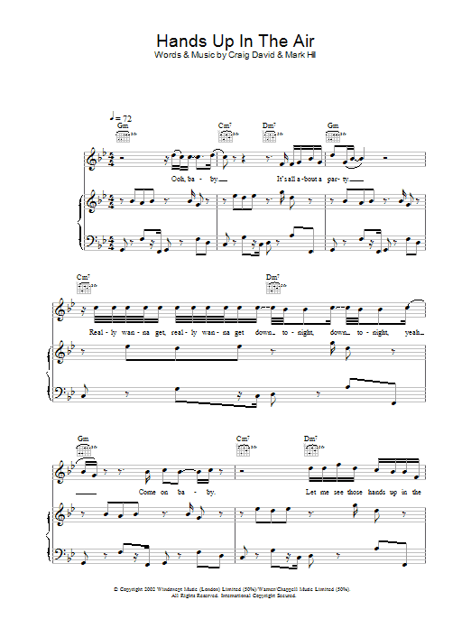 Hands Up In The Air Sheet Music