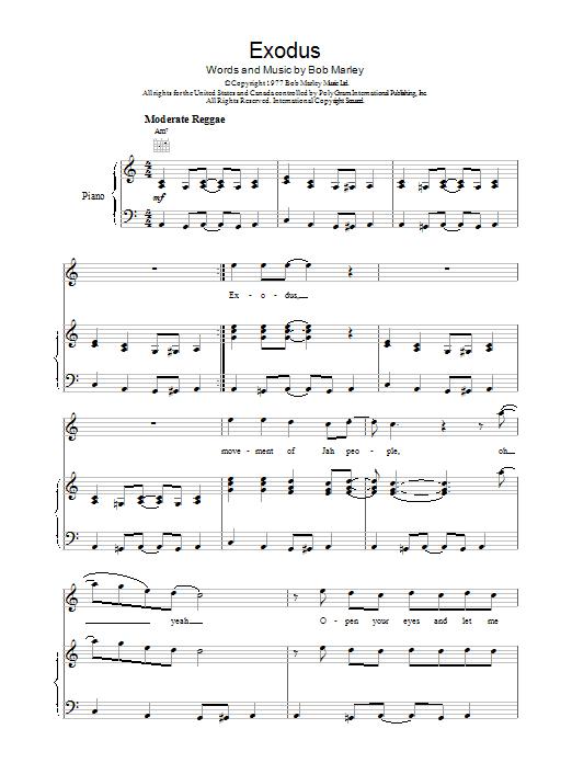 Exodus Sheet Music