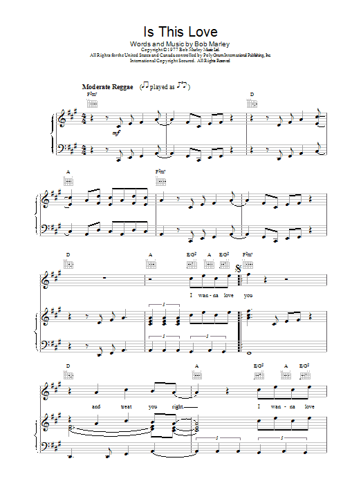 Is This Love Sheet Music