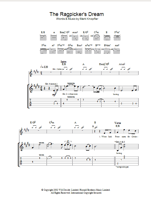 The Ragpicker's Dream (Guitar Tab)